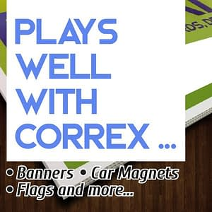 Plays well with correx...