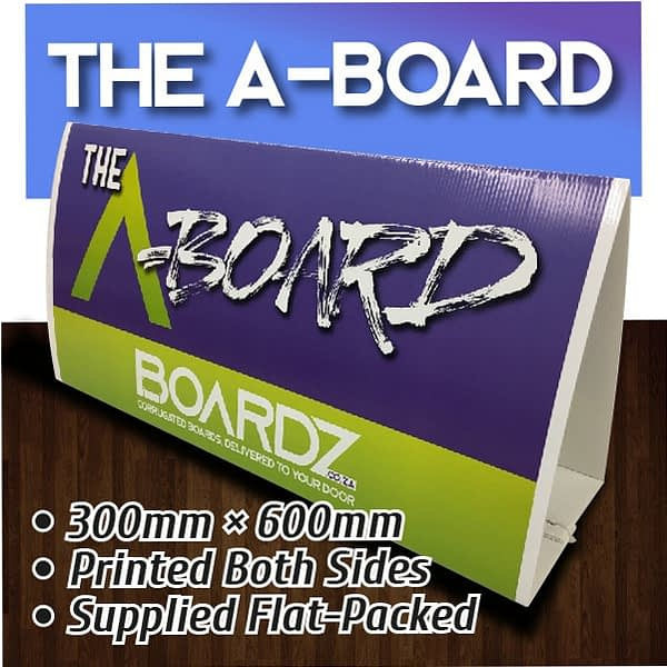 The A-Board, correx board, estate agent board, corri boards, cori boards, corex boards, for sales signs, lamppost boards, lamppost advertising boards, streetlight boards, streetlight advertising boards, roadside advertising boards, plastic ad boards, plastic advertising boards, full colour correx boards, correx board printing, cori board printing, coriboards, correxboards